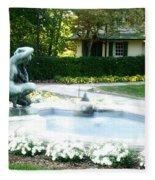 Reynolda Fountain Fleece Blanket