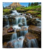 Reynolds Mountain Waterfall Fleece Blanket