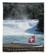 Rhine Falls In Switzerland Fleece Blanket