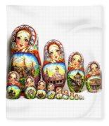 Rhinestones Of Moscow Fleece Blanket