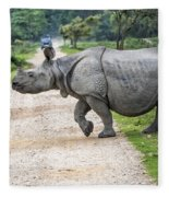 Rhino Crossing Fleece Blanket