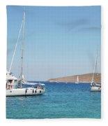 Rhodes Cup Regatta At Tilos Fleece Blanket