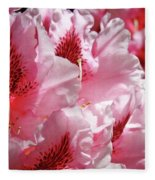 Rhodies Pink Fine Art Photography Rhododendrons Baslee Troutman Fleece Blanket