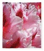 Rhodies Pink Fine Art Photography Rhododendrons Baslee Troutman Fleece Blanket