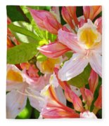 Rhodies Pink Orange Yellow Summer Rhododendron Floral Baslee Troutman Fleece Blanket