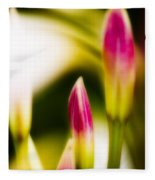 Rhododendron Buds Fleece Blanket