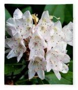 Rhododendron Family Of Flowers Fleece Blanket