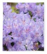 Rhododendron Floral Flowers Lavender Purple Prints Baslee Fleece Blanket