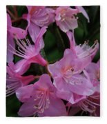 Rhododendron In The Pink Fleece Blanket