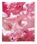 Rhododendrons Flowers Art Print Pink Rhodies Baslee Troutman Fleece Blanket