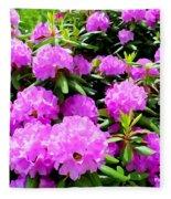 Rhododendrons In Bloom Fleece Blanket