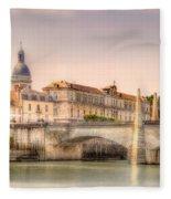 Bridge Over The Rhone River, France Fleece Blanket