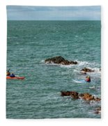 Rhoscolyn Rock Panorama Fleece Blanket
