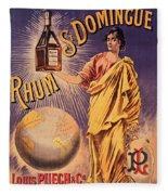 Rhum - Bottle - Earth - Map - Poster - Vintage - Wall Art - Art Print  - Girl  Fleece Blanket