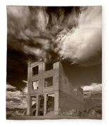 Rhyolite Nevada Ghost Town Fleece Blanket