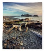 Rialto Beach Washington Fleece Blanket