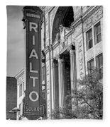 Rialto Square Theater Fleece Blanket