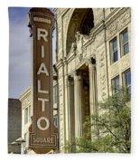 Rialto Theater Fleece Blanket