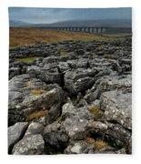 Ribblehead Viaduct, Yorkshire, England Fleece Blanket
