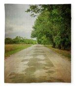 Ribbon Road - Sidewalk Highway Fleece Blanket