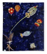 Ribcage To The Stars Fleece Blanket