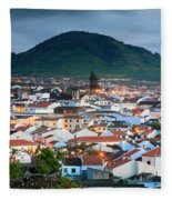 Ribeira Grande At Nightfall Fleece Blanket