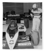 Riccardo Patrese. 1986 Spanish Grand Prix Fleece Blanket