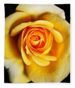 Rich And Dreamy Yellow Rose   Fleece Blanket