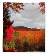 Rich Fall New Hampshire Colors Fleece Blanket