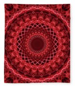 Rich Red Mandala Fleece Blanket