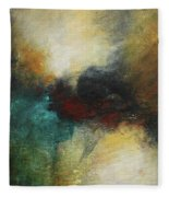 Rich Tones Abstract Painting Fleece Blanket