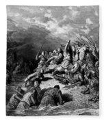 Richard I The Lionheart Delivering Jaffa 1877 Fleece Blanket