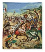 Richard The Lionheart During The Crusades Fleece Blanket