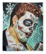 Richie Valens Day Of The Dead Fleece Blanket