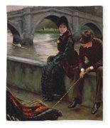 Richmond Bridge Fleece Blanket