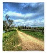 Richmond-lynchburg Stage Road, Appomattox, Virginia Fleece Blanket