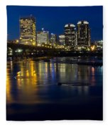 Richmond Night Skyline Fleece Blanket