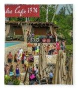 Rick's Cafe In Negril Fleece Blanket