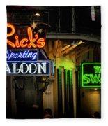 Ricks Sporting Saloon Fleece Blanket