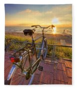 Ride Off Into The Sunset Fleece Blanket