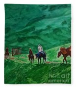 Riders In The Andes Fleece Blanket