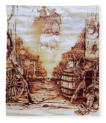 Riders In The Sky Fleece Blanket