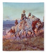Riders Of The Open Range Fleece Blanket
