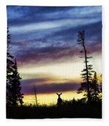 Ridge Sihouette Fleece Blanket
