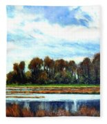 Ridgefield Refuge Early Fall Fleece Blanket