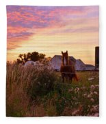 Riding Off Into The Sunset Fleece Blanket