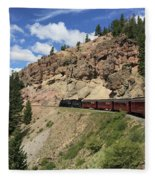 Riding The Cumbres And Toltec Fleece Blanket