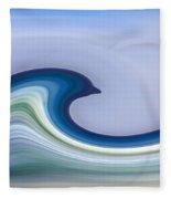 Riding The Waves Fleece Blanket