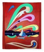 Riding The Wind Fleece Blanket