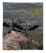 Rift Valley Cormorants Fleece Blanket